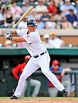 9 March 2011: Detroit Tigers' fielder Ryan Strieby in action during a Spring Training game against the Philadelphia Phillies at Joker Marchant Stadium in Lakeland, Florida. The Phillies defeated the Tigers 5-3 in Grapefruit League play. Mandatory Credit: Ed Wolfstein Photo