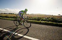 later stage 1 winner Elia Viviani (ITA) underway<br /> <br /> 2013 Tour of Britain<br /> stage 1: Peebles - Drumlanrig Castle, 209km