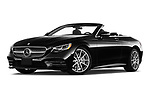 Stock pictures of low aggressive front three quarter view of 2019 Mercedes Benz S-Class S-560 2 Door Convertible Low Aggressive