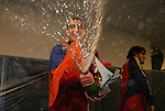 22 November 2009: Salt Lake's Yura Movsisyan (ARM) sprays the room with champagne during the locker room celebration. Real Salt Lake defeated the Los Angeles Galaxy 5-4 on penalty kicks after the teams played to a 1-1 overtime tie at Qwest Field in Seattle, Washington in MLS Cup 2009, Major League Soccer's championship game.