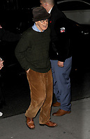 www.acepixs.com<br /> November 14, 2017  New York City<br /> <br /> Woody Allen attending the 'Wonder Wheel' film premiere on November 14, 2017 in New York City.<br /> <br /> Credit: Kristin Callahan/ACE Pictures<br /> <br /> <br /> Tel: 646 769 0430<br /> Email: info@acepixs.com