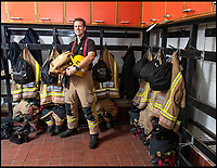 BNPS.CO.UK (01202 558833)<br /> Pic: PhilYeomans/BNPS<br /> <br /> Rev James Menzies of All Saints church in Portland , Dorset - He has also joined the local fire station as a part time fireman.<br /> <br /> Meet the vicar is destined for the flames...<br /> <br /> A vicar has taken his work in the community to the next level by signing up to combine his priestly duties with a role as a volunteer fireman.<br /> <br /> James Menzies, 32, has been the reverend at All Saints Church on the Isle of Portland, Dorset for almost five years but has recently taken on the surprising new job.<br /> <br /> He says he tries to keep major events in his church calendar free from fire duty, but has on occasion had to drop his godly responsibility to attend to flames.