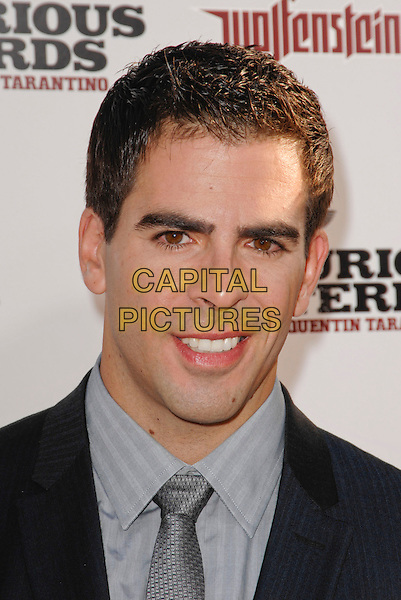 "ELI ROTH .arriving at the Los Angeles premiere of ""Inglourious Basterds"" at Grauman's Chinese Theatre in Hollywood, California, USA, August 10th 2009..portrait headshot silver tie .CAP/ROT.©Lee Roth/Capital Pictures"
