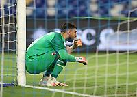 12th July 2020; Stadio San Paolo, Naples, Campania, Italy; Serie A Football, Napoli versus AC Milan; Goalkeeper Gianluigi Donnarumma of AC Milan sets his defensive wall for a free kick