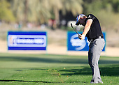 Stephen Gallacher (SCO) plays his 2nd shot from the rough on the 16th hole and sinks the ball for eagle during Sunday's Final Round of the 2013 Omega Dubai Desert Classic held at the Emirates Golf Club, Dubai, 3rd February 2013..Photo Eoin Clarke/www.golffile.ie