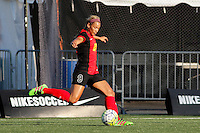 Rochester, NY - Friday June 24, 2016: Western New York Flash forward Lynn Williams (9) during a regular season National Women's Soccer League (NWSL) match between the Western New York Flash and the Boston Breakers at Rochester Rhinos Stadium.