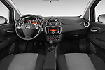 Stock photo of straight dashboard view of a 2014 Fiat PUNTO SPORTLINE 5 Door Hatchback 2WD Dashboard