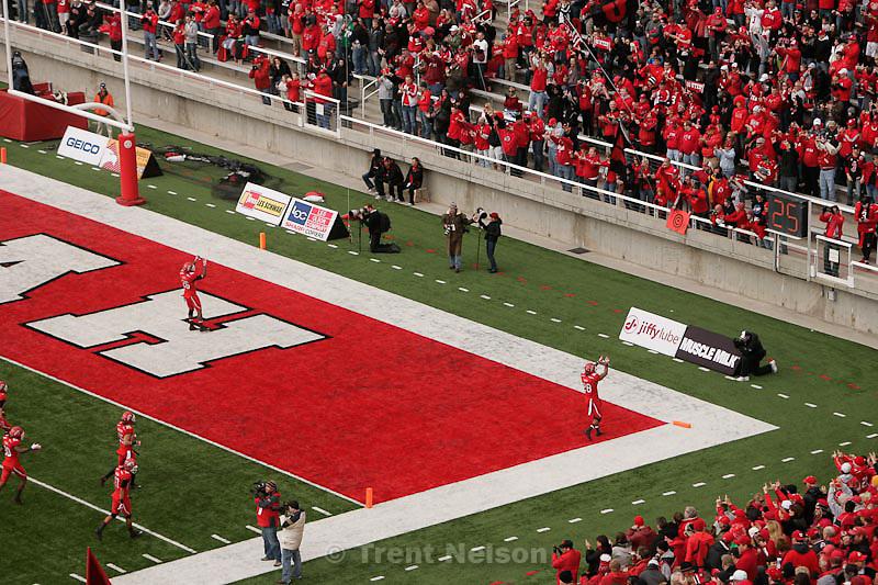 Trent Nelson  |  The Salt Lake Tribune.Reggie Topps and fans, pre-game, Utah vs. Colorado, college football at Rice-Eccles Stadium in Salt Lake City, Utah, Friday, November 25, 2011