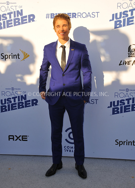 WWW.ACEPIXS.COM<br /> <br /> March 14 2015, LA<br /> <br /> Justin Bieber arriving at the Comedy Central Roast Of Justin Bieber on March 14, 2015 in Los Angeles, California. <br /> <br /> By Line: Peter West/ACE Pictures<br /> <br /> <br /> ACE Pictures, Inc.<br /> tel: 646 769 0430<br /> Email: info@acepixs.com<br /> www.acepixs.com