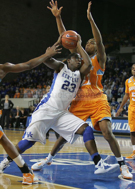Vicki Baugh guards Samarie Walker in Kentucky's 61-60 win over the Lady Vols at Memorial Coliseum, on Thursday, Jan. 12, 2012. Photo by Latara Appleby | Staff ..