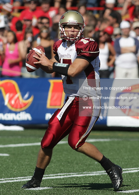 Profile photo of Concordia University Stingers CIS football player Robert Mackay during a game against the Rouge et Or at the Stade du PEPS in Quebec city September 6 2009.