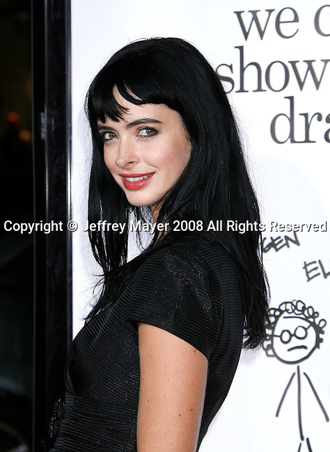 "HOLLYWOOD, CA. - October 20: Actress Krysten Ritter arrives at the Los Angeles Premiere of ""Zack And Miri Make A Porno"" at Grauman's Chinese Theater in Hollywood, California."