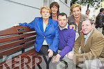 Pictured at the unveiling of the seat in memory of the late Cllr Michael Courtney outside the Killarney Town Hall on Thursday evening were Sheila, Michael and Paddy Courtney, Kathryn Courtney Leen and Peggy O'Neill. ................................................................