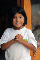 Child in small village of Mindo, Ecuador.