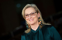 "L'attrice statunitense Meryl Streep posa sul red carpet per l'anteprima del film ""Florence Foster Jenkins"" al Festival Internazionale del Film di Roma, 20 ottobre 2016.<br /> U.S. actress Meryl Streep poses for on the red carpet for the premiere of the movie ""Florence Foster Jenkins"" during the international Rome Film Festival at Rome's Auditorium, 20 October 2016.<br /> UPDATE IMAGES PRESS/Stringer"