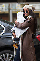 US singer Ciara, her six months old baby Future Zahir Wilburn & her father s in Brussels - EXCLUSIVE