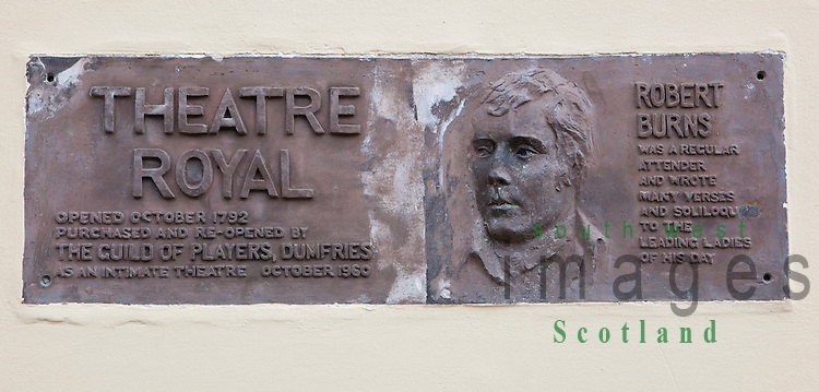 Theatre Royal in Dumfries is the oldest working theatre since 1792 in Scotland UK
