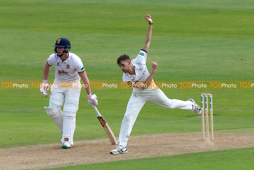 Ben Coad in bowling action for Yorkshire during Essex CCC vs Yorkshire CCC, Specsavers County Championship Division 1 Cricket at The Cloudfm County Ground on 4th May 2018