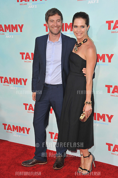 Mark Duplass &amp; wife Katie Aselton at the premiere of his movie &quot;Tammy&quot; at the TCL Chinese Theatre, Hollywood.<br /> June 30, 2014  Los Angeles, CA<br /> Picture: Paul Smith / Featureflash