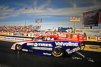 Mar. 30, 2012; Las Vegas, NV, USA: NHRA funny car driver Johnny Gray during qualifying for the Summitracing.com Nationals at The Strip in Las Vegas. Mandatory Credit: Mark J. Rebilas-US PRESSWIRE