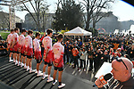 Cofidis at sign on in Fortezza Medicea before the start of the 110th edition of Milan-San Remo 2019 running 291km from Milan to San Remo, Italy. 23rd March 2019.<br /> Picture: LaPresse/Gian Matteo D'Alberto | Cyclefile<br /> <br /> <br /> All photos usage must carry mandatory copyright credit (&copy; Cyclefile | LaPresse/Gian Matteo D'Alberto)