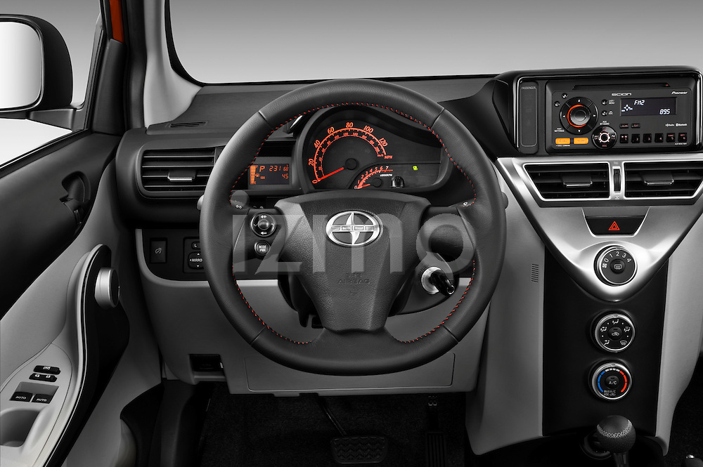 Steering wheel view of a 2012 Scion IQ