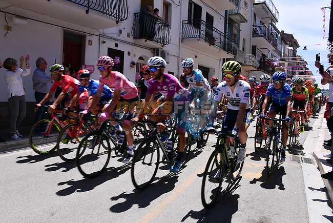 The start of Stage 9 of the 100th edition of the Giro d'Italia 2017, running 149km from Montenero di Bisaccia to Blockhaus, Italy. 14th May 2017.<br /> Picture: LaPresse/Gian Mattia D'Alberto | Cyclefile<br /> <br /> <br /> All photos usage must carry mandatory copyright credit (&copy; Cyclefile | LaPresse/Gian Mattia D'Alberto)