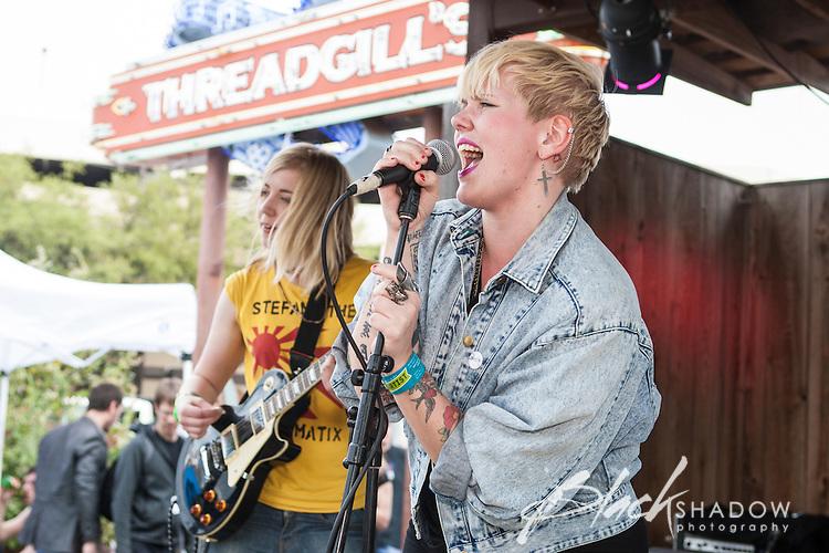 The Bombettes performing at Roky Erickson's Icecream Social, SXSW 2012, Austin Texas