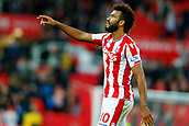 9th September 2017, bet365 Stadium, Stoke-on-Trent, England; EPL Premier League football, Stoke City versus Manchester United; Eric Maxim Choupo-Moting of Stoke City scored twice for Stoke City