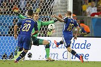 Enzo Perez of Argentina has a chance to score a goal but chips the ball wide