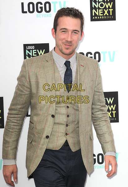 Barry Sloane.2013 NewNowNext Awards held at The Fonda Theatre, Los Angeles, California, USA, 13th April 2013..half length green jacket blazer waistcoat jeans tie  tweed plaid .CAP/ADM/KB.©Kevan Brooks/AdMedia/Capital Pictures