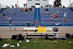 TIME, Arapahoe County Assignment..Small towns in far eastern Arapahoe County.  Byers, Deer Trail, Aurora, Watkins...Western towns, urban.  Littleton, Aurora, Sheridan....Spectators at a Sheridan High School football cheer as the team runs for a touchdown.  Sheridan, a small municipality on the most western end of Arapahoe County, shares borders with Denver and is 33% Latino, sharing similar demographics with the state capital, a historically liberal area in a mostly red state.