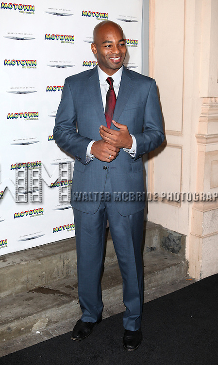 Brandon Victor Dixon attending the Broadway World Premiere Launch for 'Motown: The Musical' at the Nederlander in New York. Sept. 27, 2012