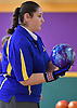 Alexis Kotanidis of Kellenberg gets ready to bowl during the girls Nassau-Suffolk CHSAA league championship against St. Dominic at Farmingdale Lanes on Monday, Feb. 13, 2017.