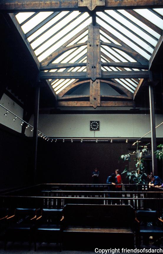C.R. Mackintosh: Glasgow School of  Art. Stairwell, 1897-99. (Photo '87)