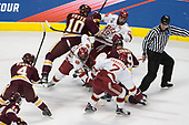 Neal Pionk (UMD - 4), Brenden Kotyk (UMD - 10), Matt Marcinew (DU - 23), Troy Terry (DU - 19), Dominic Toninato (UMD - 19), Dylan Gambrell (DU - 7) - The University of Denver Pioneers defeated the University of Minnesota Duluth Bulldogs 3-2 to win the national championship on Saturday, April 8, 2017, at the United Center in Chicago, Illinois.