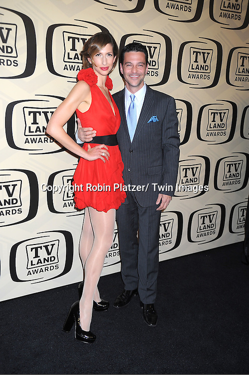 David Alan Basche and wife Alicia Reiner arrive at The 10th Annual TV Land Awards on April 14, 2012 at the Lexington Avenue Armory  in New York City.