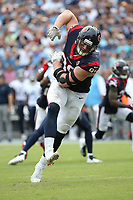 Houston Texans J. J. Watt #99 during an NFL football game between the Houston Texans and the Tennessee Titans, Sunday, Sept. 16, 2018 in Nashville, Tenn. (Photo by Michael Zito/AP Images for Panini)