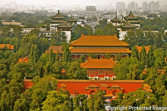 Forbidden City Traditional chinese buildings Tiananmen Beijing China photo
