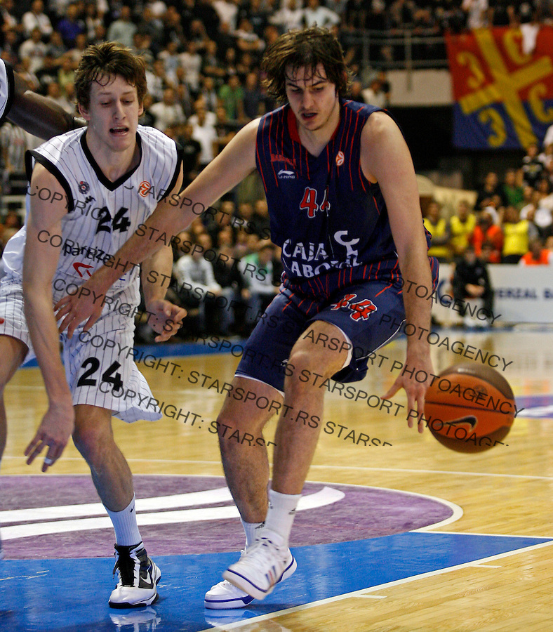 Nemanja Bjelica Euroleague match Partizan Belgrade vs Caja Laboral in Belgrade, Serbia, Wednesday, 17. November 2010. (credit & photo: Pedja Milosavljevic / +381 64 1260 959 / thepedja@gmail.com)