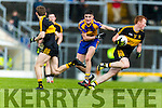 Johnny Buckley Dr Crokes in action against Sean O'Shea Kenmare District in the Senior County Football Championship final at Fitzgerald Stadium on Sunday.