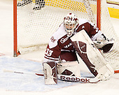 Kevin Boyle (UMass - 33) - The Boston College Eagles defeated the visiting University of Massachusetts-Amherst Minutemen 2-1 in the opening game of their 2012 Hockey East quarterfinal matchup on Friday, March 9, 2012, at Kelley Rink at Conte Forum in Chestnut Hill, Massachusetts.