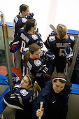 Jody Sydor (UConn - 4), Brittany Murphy (UConn - 8), Amy Hollstein (UConn - 10), Jaclyn Camardo (UConn - 11), ?, Casey Knajdek (UConn - 5) - The University of Connecticut Huskies defeated the Northeastern University Huskies 4-1 in Hockey East quarterfinal play on Saturday, February 27, 2010, at Matthews Arena in Boston, Massachusetts.