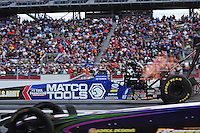 Mar. 10, 2012; Gainesville, FL, USA; NHRA top fuel dragster driver Antron Brown during qualifying for the Gatornationals at Auto Plus Raceway at Gainesville. Mandatory Credit: Mark J. Rebilas-