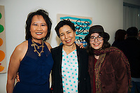 Winnie Lam, Monique Prieto, and Rose Webster at LAM Gallery Presents Monique Prieto: Hat Dance (Photo by Tiffany Chien/Guest of a Guest)