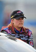 Apr. 24, 2009; Talladega, AL, USA; ARCA RE/MAX Series driver Alli Owens during the RE/MAX 250 at the Talladega Superspeedway. Mandatory Credit: Mark J. Rebilas-