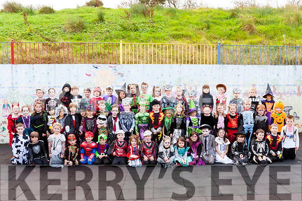 Dromtrasna National Schools had a haunting experience last Friday as the pupils arrived to school in weird but wonderful costumes to celebrate Halloween.
