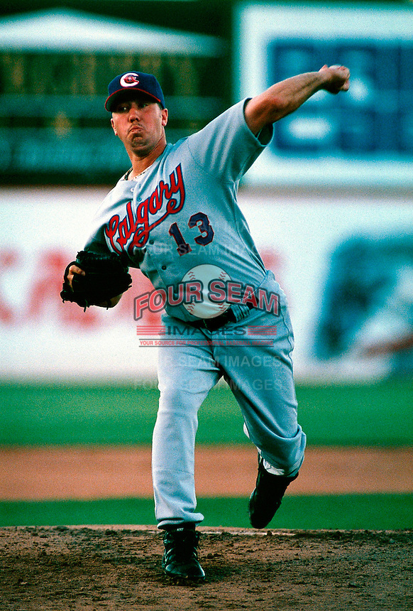 Jimmy Anderson of the Calgary Cannons during a game at Cashman Field in Las Vegas, Nevada during the 1997 season.(Larry Goren/Four Seam Images)
