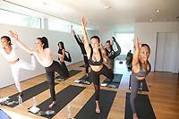31 March 2017 - Beverly Hills, California -  Brittany Hampton, Draya Michele, Serayah McNeill. Draya Michele and Friends at AloYoga. Photo Credit: AdMedia