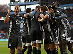 Youri Tielemans of Leicester City celebrates Jonny Evans' goal against Aston Villa during the Premier League match at Villa Park, Birmingham. Picture date: 8th December 2019. Picture credit should read: Darren Staples/Sportimage